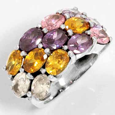 Sterling Silver Gemstone Ring (3796_7.5)