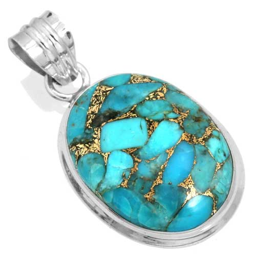 wholesale Wholesale Sterling Silver Gemstone Pendant (39741_P)