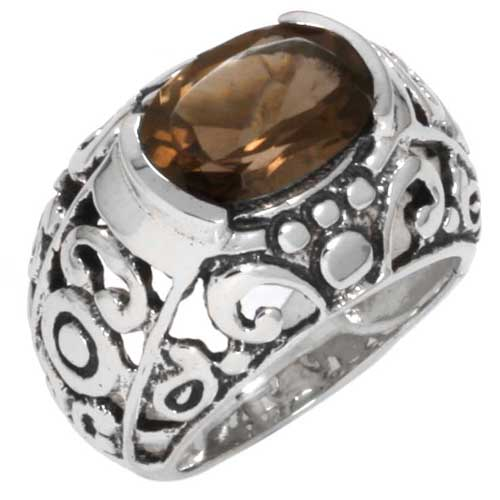 Sterling Silver Gemstone Ring (4615_8.5)