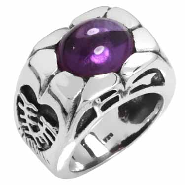 Sterling Silver Gemstone Rings (4679_6)