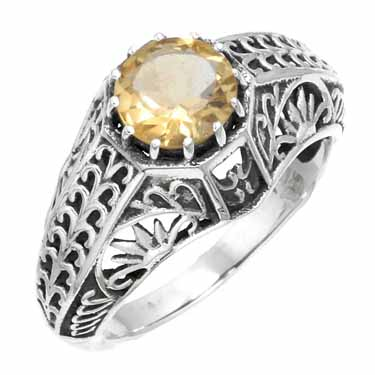 Sterling Silver Gemstone Ring (5965_7)