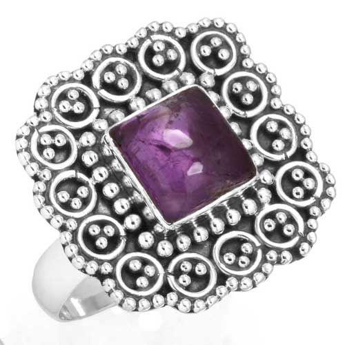 wholesale Wholesale Sterling Silver Gemstone Ring (6424_9)