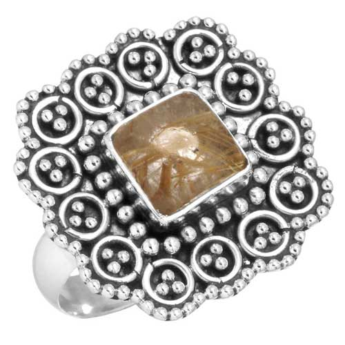 Sterling Silver Gemstone Ring (6434_8)