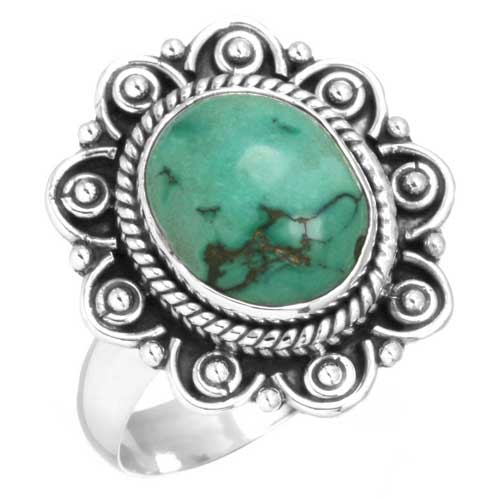 Sterling Silver Gemstone Ring (6540_10)