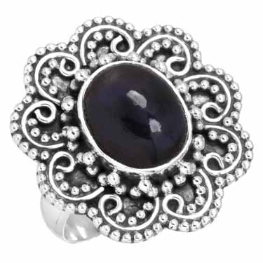Sterling Silver Gemstone Ring (6582_8)
