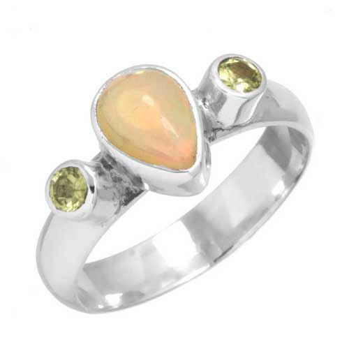 Sterling Silver Gemstone Ring (6882_7)