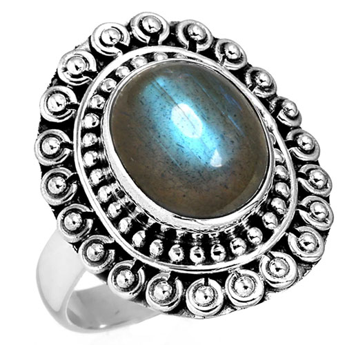 Sterling Silver Gemstone Ring (7598_6)