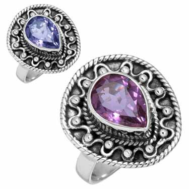 wholesale Wholesale Sterling Silver Gemstone Ring (8227_5)