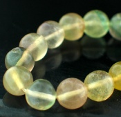 Sterling silver Flourite Beads (3mm) GemstoneBead ID=Beads_fl_round