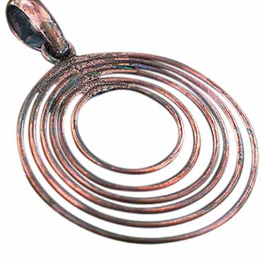 Sterling silver 100% Copper CopperJewelry ID=CopperPendant09
