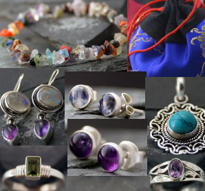 Starter Package: Assortment of 10 rings - 10 pendants - 10 pairs dangle earrings (Package_Starter_01)