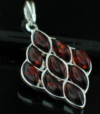 Sterling silver NA pendant ID=amb_pn30Cog