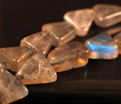 Sterling silver Labradorite Beads (7mm) GemstoneBead ID=beads_lb_tri