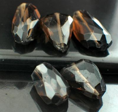 Sterling silver Smokey Quartz Nuggets (20-25ctw ea) GemstoneBead ID=beads_sqf_nug