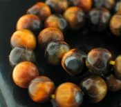 Sterling silver Tigers Eye Beads (6mm) GemstoneBead ID=beads_tg_round