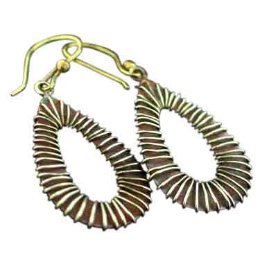 Sterling silver Copper Earrings CopperJewelry ID=copper_ear03