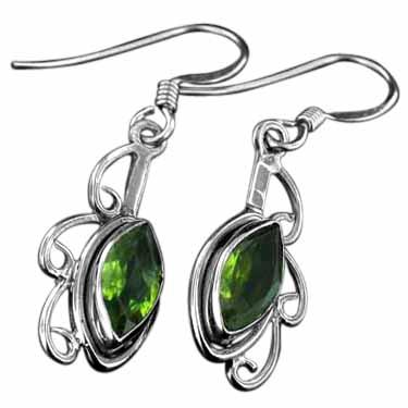 Sterling silver Peridot (4 ctw) Earring ID=ee115prf