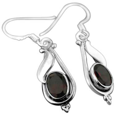 wholesale Sterling Silver Gemstone Earrings (ee141prf)