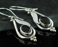 Sterling silver Garnet (4ctw) Earring ID=ee141prf