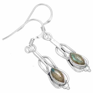 Sterling silver Labradorite Earring ID=ee233lb
