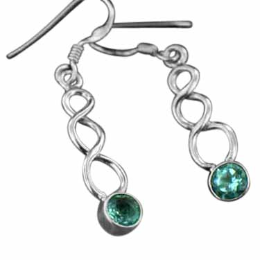 wholesale Sterling Silver Gemstone Earrings   (ee242btpf)