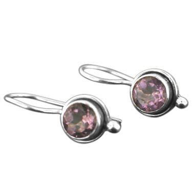 Sterling silver Amethyst (2ctw) Earring ID=ee64amef
