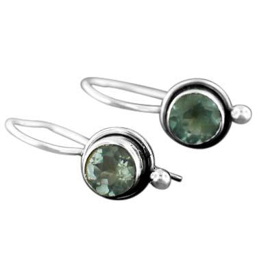 Sterling silver Blue Topaz (2ctw) Earring ID=ee64btpf
