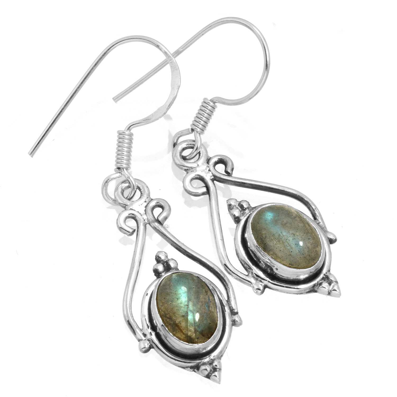 Sterling silver Labradorite (6x9mm) Earring ID=ee661lb