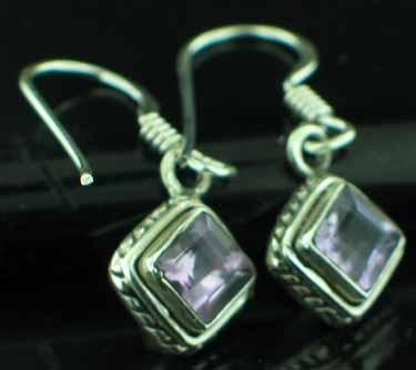 Sterling silver Amethyst (2ctw) Earring ID=ee669amef