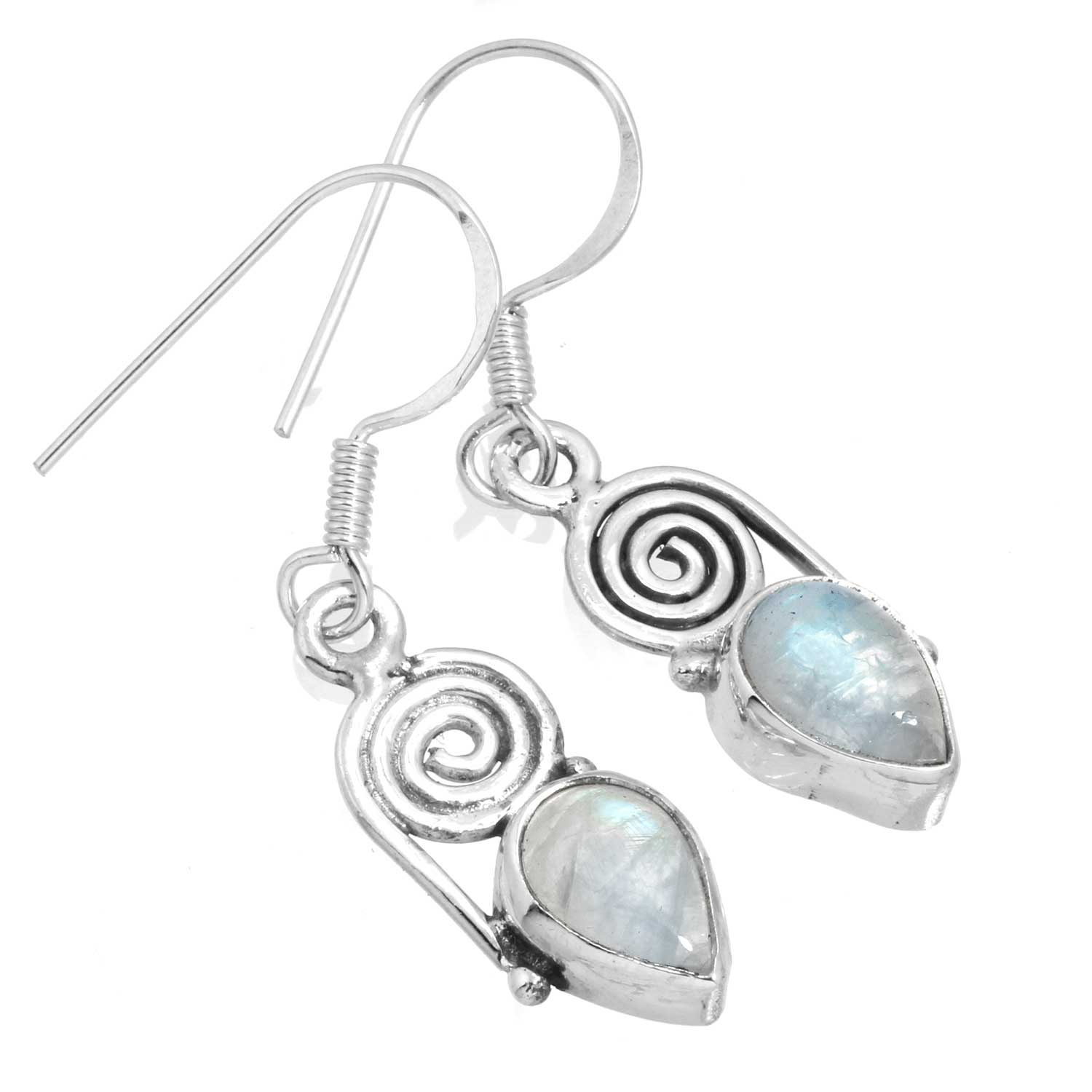 Sterling silver Rainbow Moonstone Earring ID=ee700rm