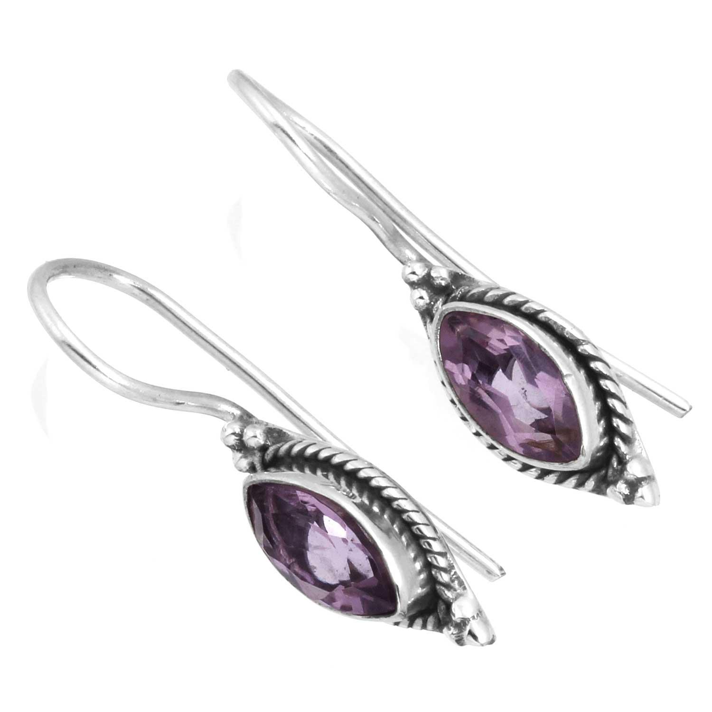 Sterling silver Amethyst (3ctw) Earring ID=ee701amef