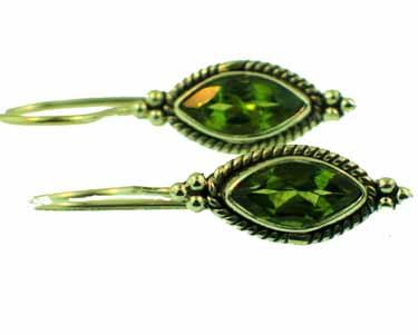 Sterling silver Peridot (3ctw) Earring ID=ee701prf