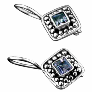wholesale Sterling Silver Gemstone Earrings (ee78amef)