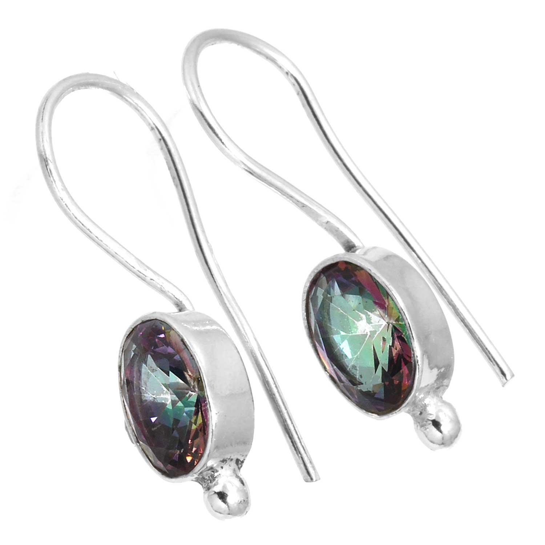 Sterling silver Blue Topaz (3 ctw) Earring ID=ee800mtf