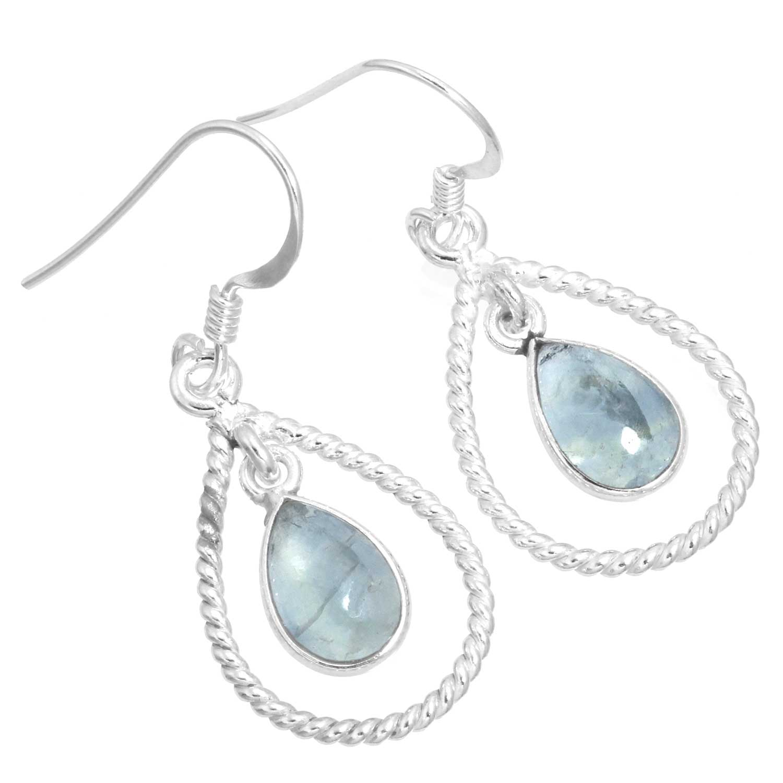 Sterling silver Flourite (7x10mm) Earring ID=ee825fl