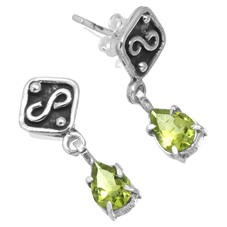 Sterling silver Peridot (3 ctw) Earring ID=ee830prf