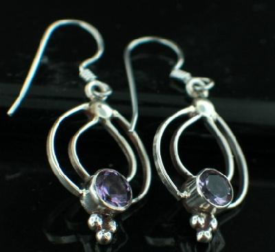 Sterling silver Amethyst (2ctw) Earring ID=es204amef