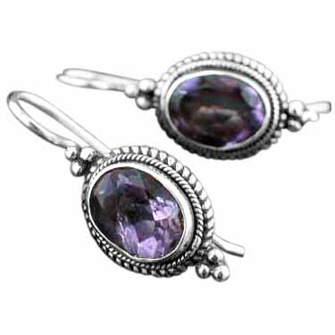 Sterling silver Amethyst (4ctw) Earring ID=es222amef