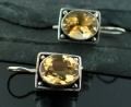 Sterling silver Citrine (7ctw) Earring ID=es243tpf