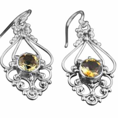 Sterling silver topaz (5ctw) Earring ID=es316tpf