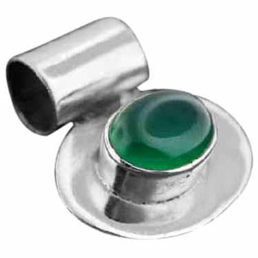 Sterling silver Jade pendant ID=pn1699gx