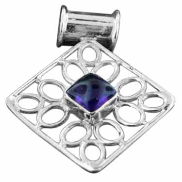 wholesale Sterling Silver Gemstone Pendant (pn194ml)