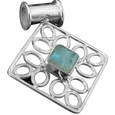 wholesale Sterling Silver Gemstone Pendant (pn195rm)