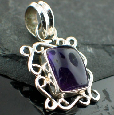 Sterling silver Amethyst (4ctw) Pendant ID=pn21ame