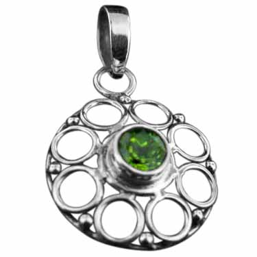wholesale Sterling Silver Gemstone Pendant (pn333prf)