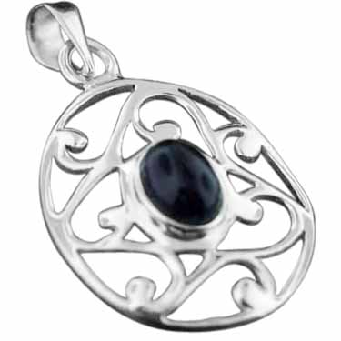 Sterling silver Amethyst pendant ID=pn343ame
