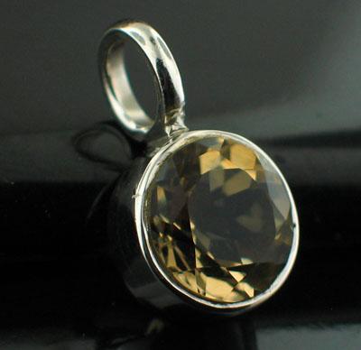 Sterling silver Citrine (2ctw) Pendant ID=pn403ctf