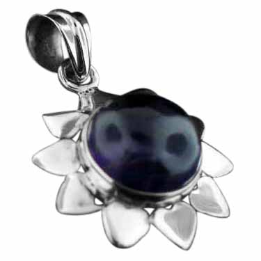 Sterling silver Amethyst Pendant ID=pn726ame