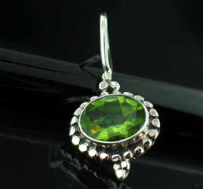 wholesale Sterling Silver Gemstone Charm Pendant (pnc03prf)