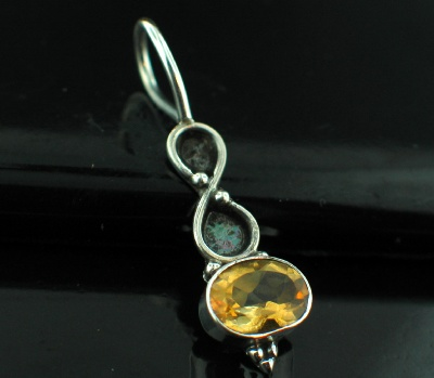 wholesale Sterling Silver Gemstone Charm Pendant (pnc29ctf)